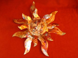 Copper and Brass Sun Face