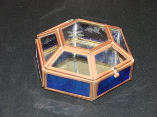 Hand made Glass Trinket box